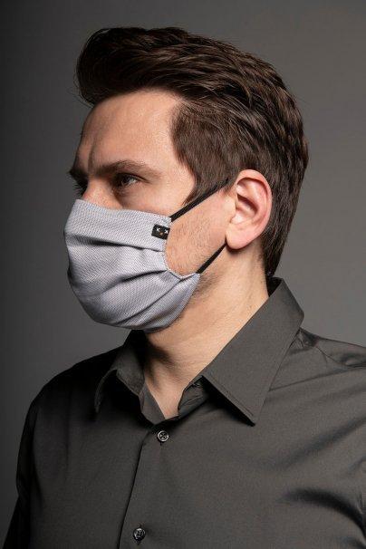 ochranne-rousky Ochranná maska Classic, 2vrstvá s kapsou na filtr (100% bavlna), unisex, šedá