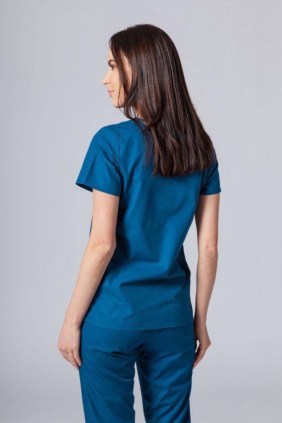 bluzy-medyczne-damskie Lékařská halena Maevn Red Panda karibsky modrá