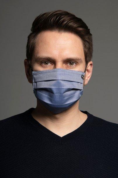 ochranne-rousky Ochranná maska Classic, 2vrstvá s kapsou na filtr (100% bavlna), unisex, modrá