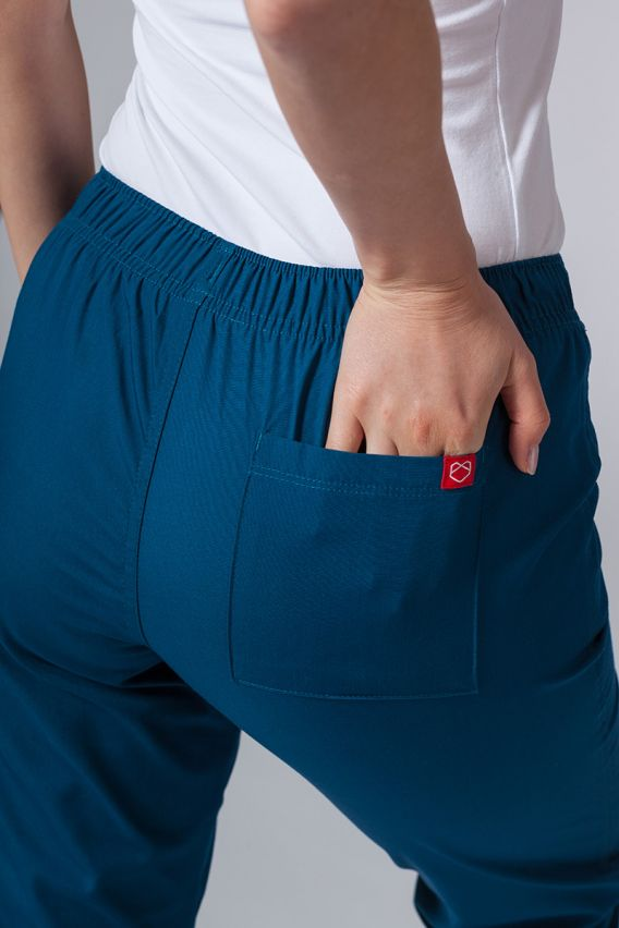 spodnie-medyczne-damskie Lékařské kalhoty Maevn Red Panda karibsky modré