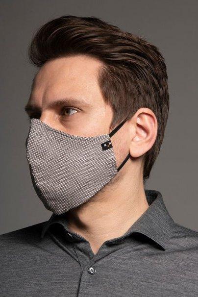maski-ochronne Heritage ochranná maska, 2vrstvá (70% bavlna, 28% len, 2% elastan) s bambusovou podšívkou, unisex, hnědá