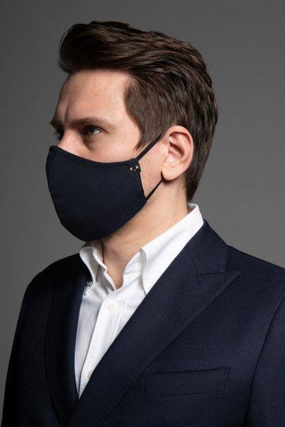 maski-ochronne Heritage ochranná  maska, 2vrstvá 100% bavlna s bambusovou podšívkou, unisex, tmavě modrá