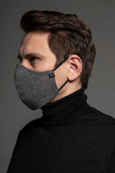 maski-ochronne Heritage ochranná maska, 2vrstvá (70% bavlna, 30% len) s bambusovou podšívkou, unisex, šedá