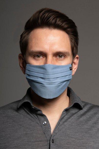 maski-ochronne Ochranná maska, dvouvrstvá (100% bavlna), unisex, modrá