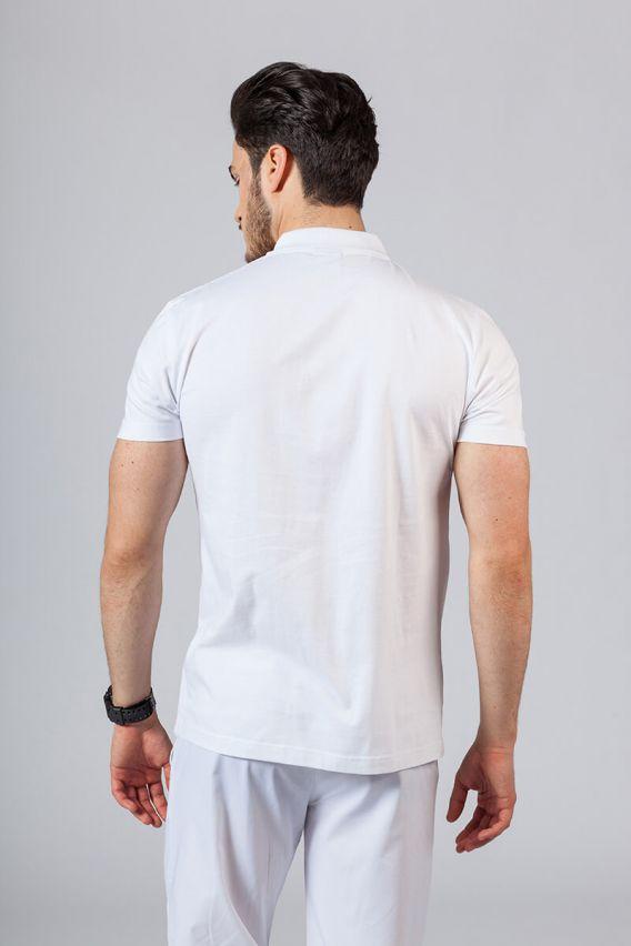 koszulki-medyczne-meskie Pánské Polo tričko bílé