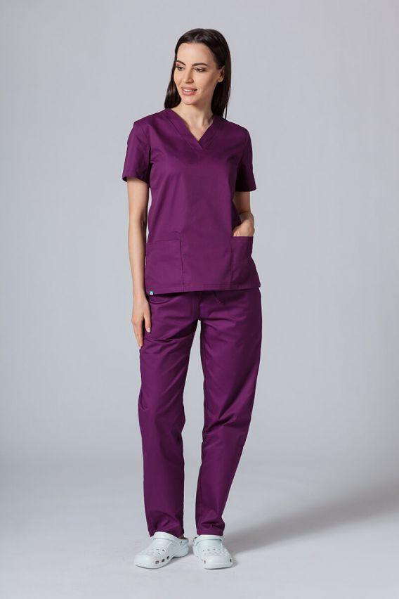 bluzy-medyczne-damskie Lékařská halena Sunrise Uniforms lilková