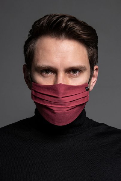 maski-ochronne Ochranná maska, dvouvrstvá (100% len), unisex, růžová