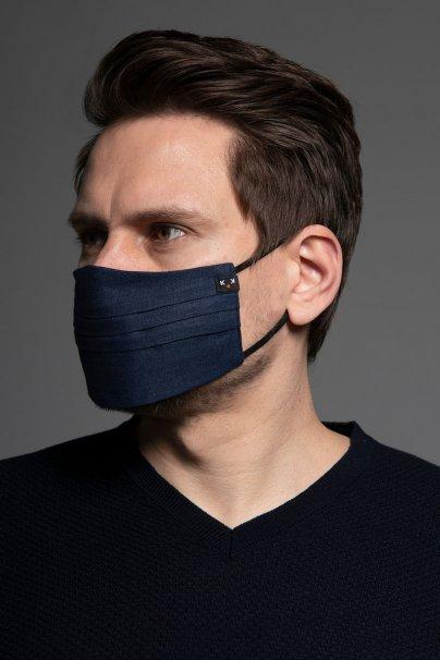 maski-ochronne Ochranná maska, dvouvrstvá (100% len), unisex, námořnická modrá