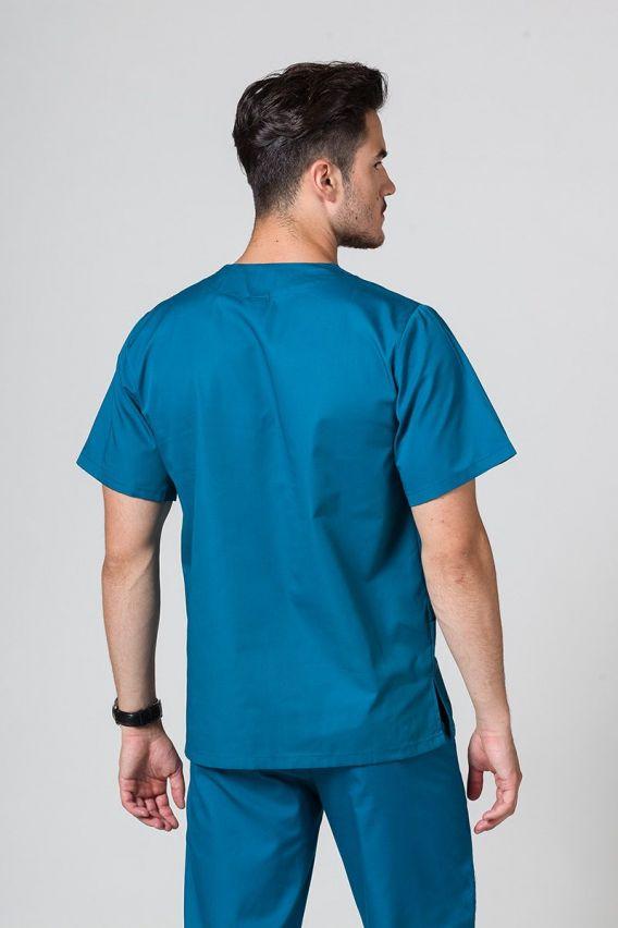 bluzy-medyczne-meskie Univerzální lékařská halena Sunrise Uniforms karibsky modrá