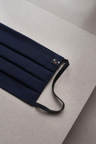 ochranne-rousky Ochranná maska Classic, 2vrstvá s kapsou na filtr (100% bavlna), unisex, tmavě námořnická modrá