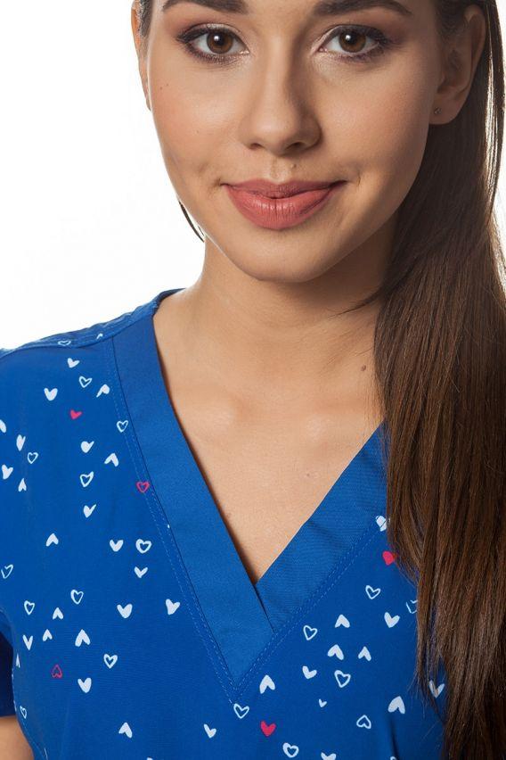 bluzy-we-wzory Lékařská halena Maevn Prints mini srdce
