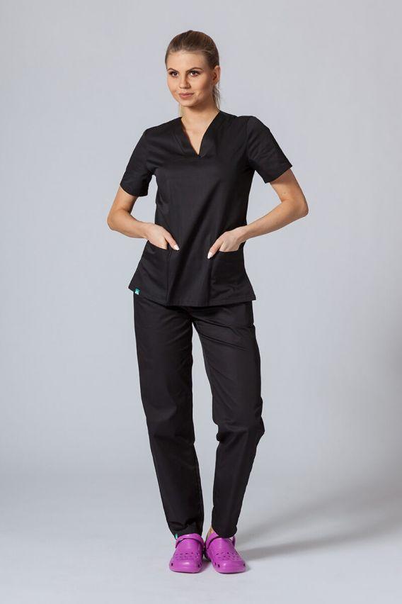 bluzy-medyczne-damskie Lékařská halena Sunrise Uniforms černá