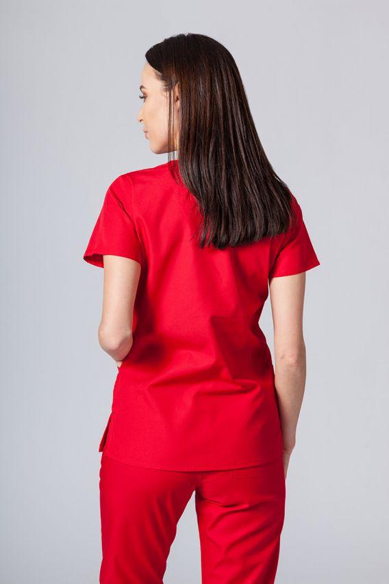 bluzy-medyczne-damskie Lékařská halena Maevn Red Panda červená
