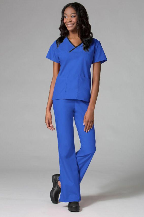 bluzy-medyczne-damskie Dámská zdravotnická halena Maevn Core královsky modrá s černým lemem