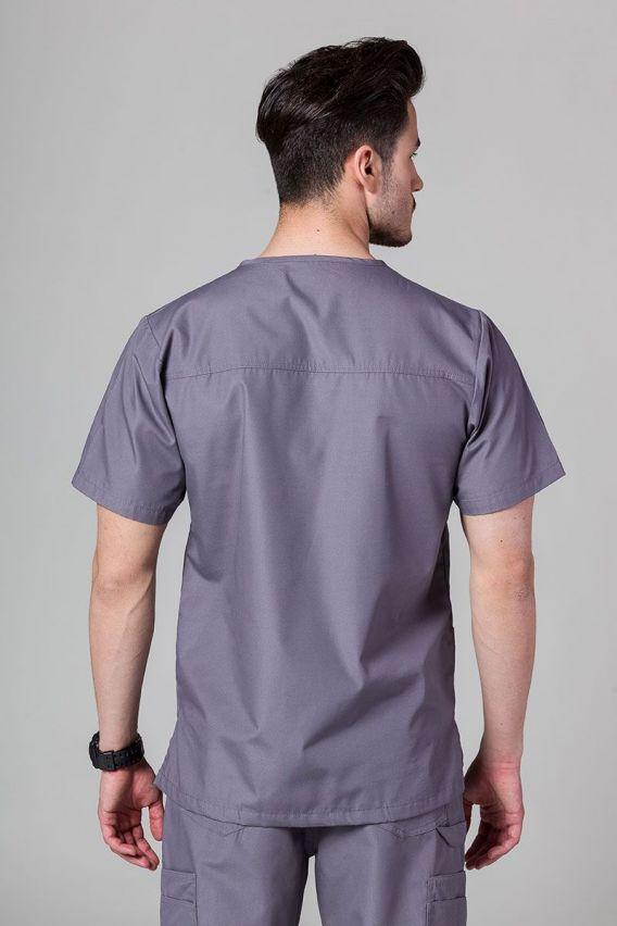 bluzy-medyczne-meskie Pánská lékařská mikina Maevn Red šedá