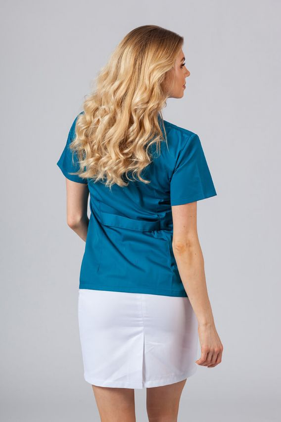 saka-1 Lékařské sako 02 Sunrise Uniforms karaibsky modré