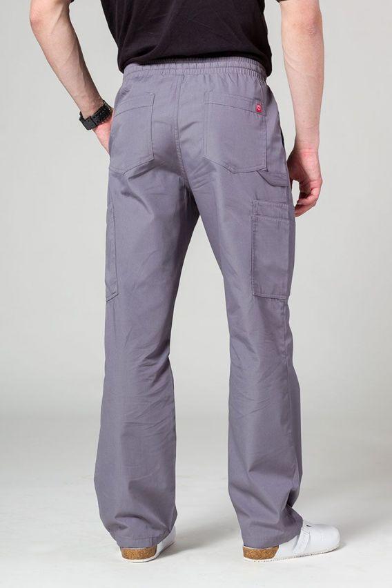 spodnie-medyczne-meskie Pánské lékařské kalhoty Maevn Red Panda Cargo (6 kapes) šedé