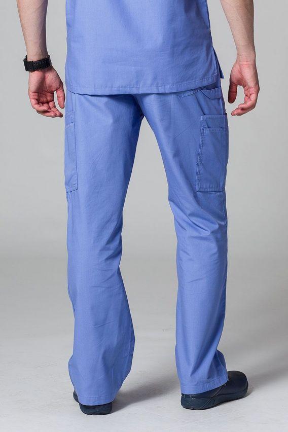 spodnie-medyczne-meskie Pánské lékařské kalhoty Maevn Red Panda Cargo (6 kapes) klasicky modré