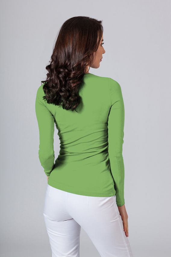 polo-damskie Dámské tričko s dlouhým rukávem - zelené