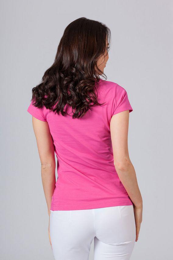 koszulki-medyczne-damskie Dámské tričko malinové
