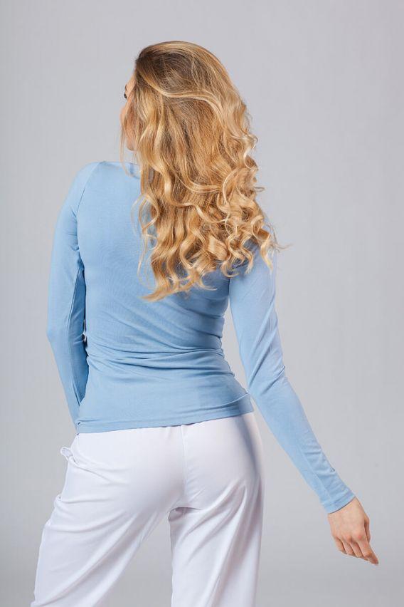 koszulki-medyczne-damskie Dámské tričko s dlouhým rukávem modré