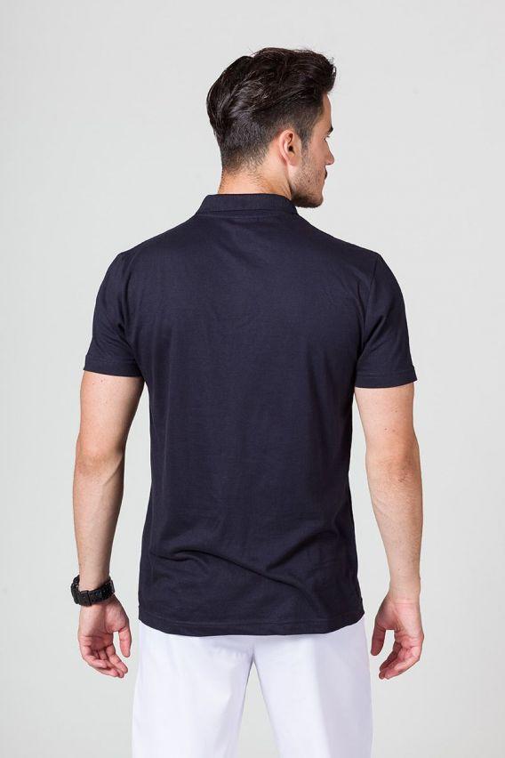 koszulki-medyczne-meskie Pánské Polo tričko námořnická modř