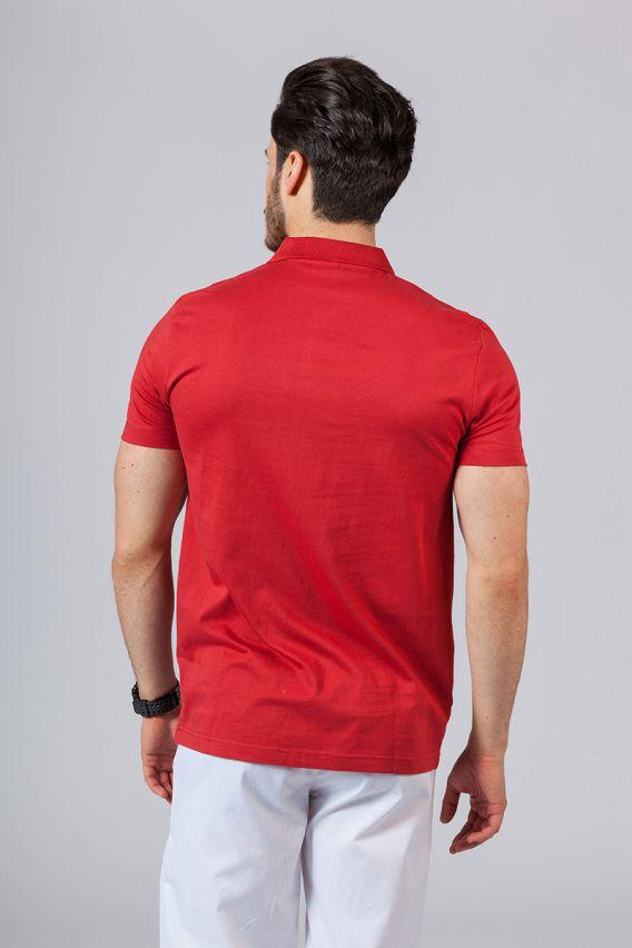 koszulki-medyczne-meskie Pánské Polo tričko červené