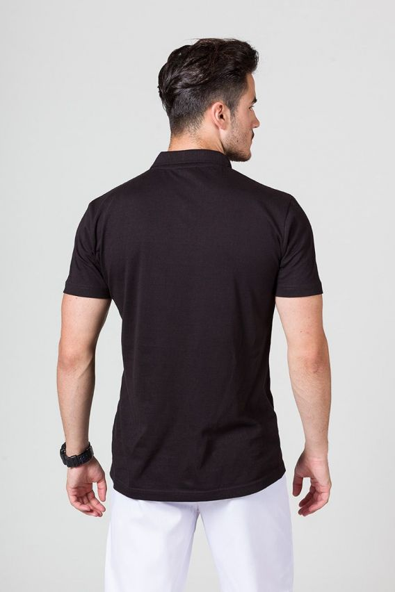 koszulki-medyczne-meskie Pánské Polo tričko černé