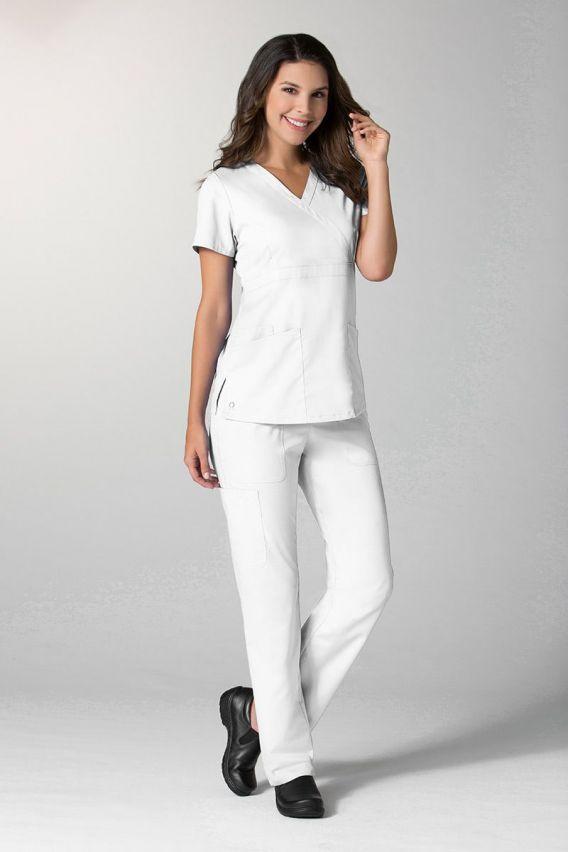 spodnie-medyczne-damskie Dámské kalhoty Maevn EON Style bílé