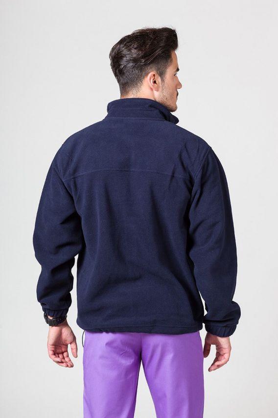 bluzy-polarowe-meskie Pánská mikina námořnická modř