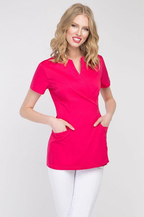 bluzy-2 Zdravotnická / kosmetická zástěra na zapínání Vena Spa 4 amarant