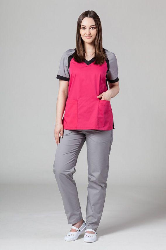 bluzy-medyczne-damskie Lékařská halena Sunrise Uniforms Active malina