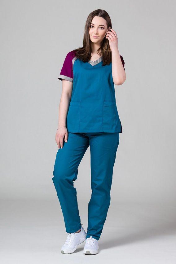 bluzy-2 Lékařská halena Sunrise Uniforms Active karibský modřý