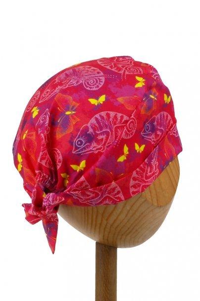 czepki-damskie Zdravotnická zavinovací čepice Sunrise Uniforms Style Unisex chameleoni