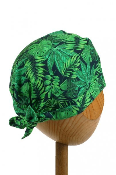 cepice-2 Zdravotnická zavinovací čepice Sunrise Uniforms Style Unisex zelené listy