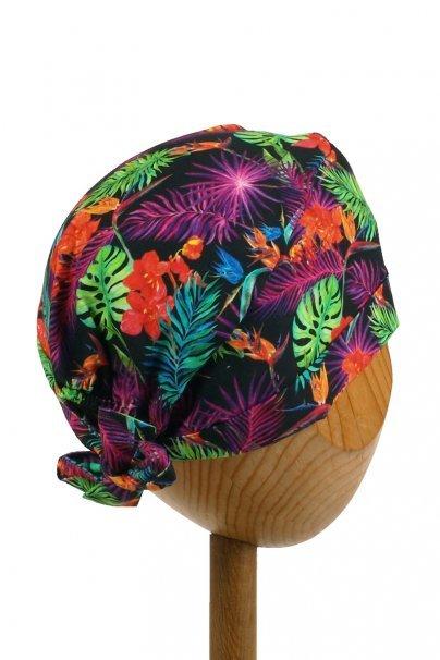 czepki-damskie Lékařská zavinovací čepice Sunrise Uniforms Style Unisex barevné listy