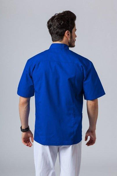 bluzy-1-1 Pánská zdravotnická košile/halena se stojatým límečkem tmavě modrá