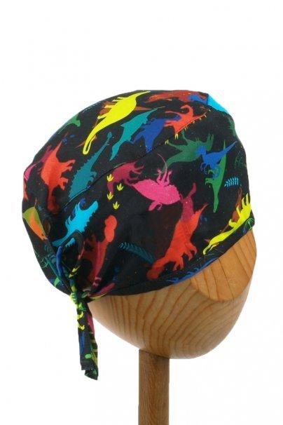 czepki-damskie Zdravotnická čepice Sunrise Uniforms Style Unisex dinosauři