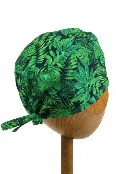 czepki-damskie Zdravotnická čepice Sunrise Uniforms Style Unisex zelené listy