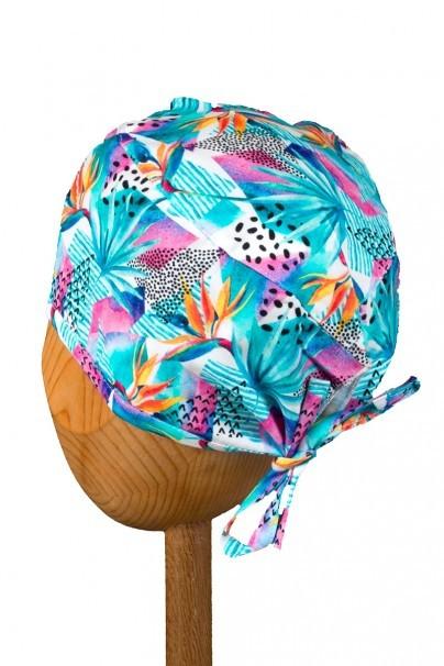 czepki-damskie Lékařská čepice Sunrise Uniforms Style Unisex květy strelície