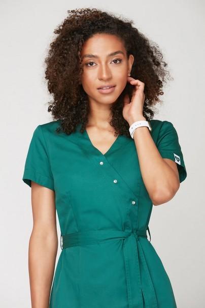 bluzy-2 Zdravotnická zástěra Emma na zapínání zelená