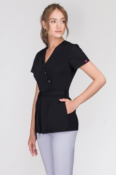 bluzy-2 Zdravotnická zástěra Emma na zapínání černá