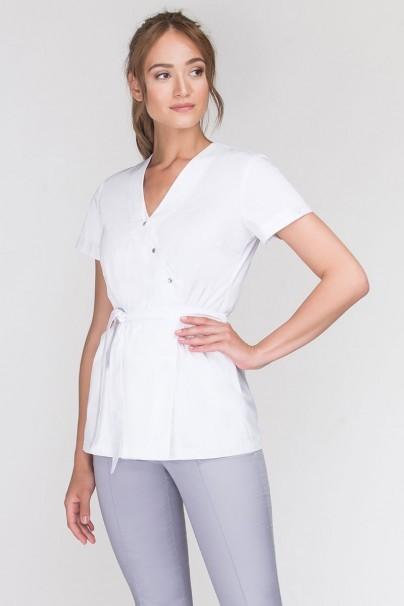 bluzy-2 Zdravotnická zástěra Emma na zapínání bílá