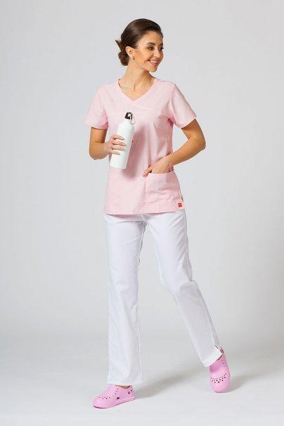 bluzy-2 Lékařská halena Maevn Red Panda Asymetric světle růžová