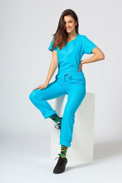 kalhoty-1-1 Lékařské kalhoty Maevn Red Panda tyrkysové