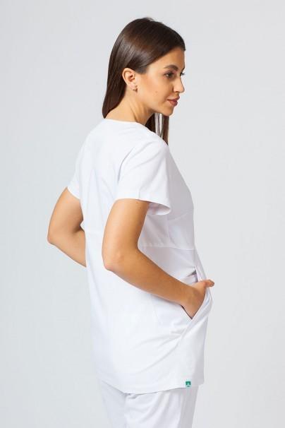 bluzy-2 Dámská zdravotní halena Sunrise Uniforms Kangaroo (elastická), bílá