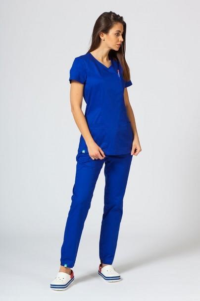 bluzy-2 Dámská lékařská halena Sunrise Uniforms Fit (elastická), tmavě modrá