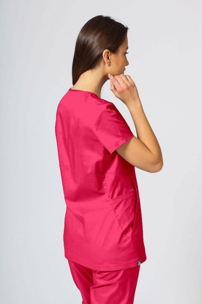 bluzy-2 Dámská zdravotní halena Sunrise Uniforms Kangaroo (elastická), malinová