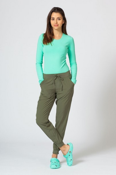 kalhoty-1-1 Dámské kalhoty Maevn Matrix Impulse Jogger olivové