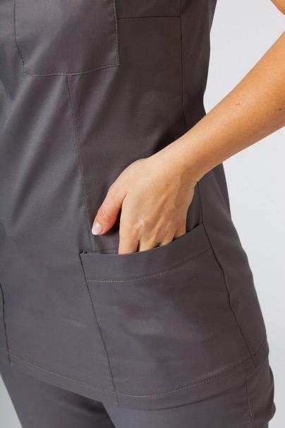 bluzy-2 Dámská lékařská halena Sunrise Uniforms Fit (elastická), šedá